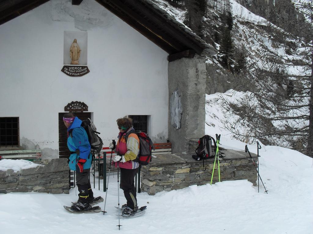arrivo alla Cappella degli Alpini