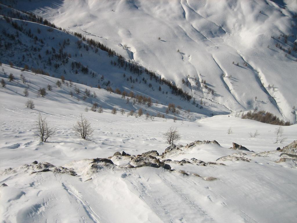 La veduta del fondovalle dagli ultimi metri.
