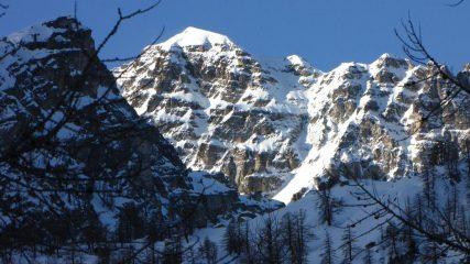 prime luci del sole sul Monte Bego (31-1-2010)