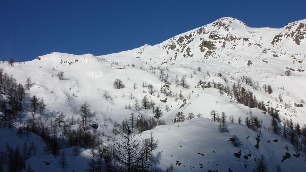 Mont Saint Marie visto dal Refuge de Fontanalbe (31-1-2010)