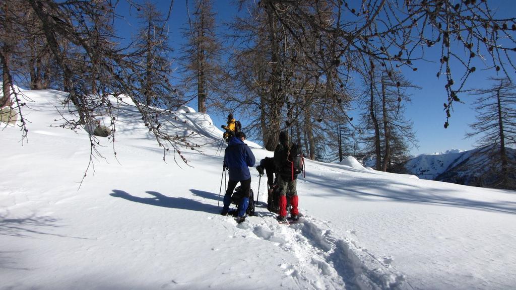 un momento di pausa nella parte alta del Vallon de Fontanalbe (31-1-2010)