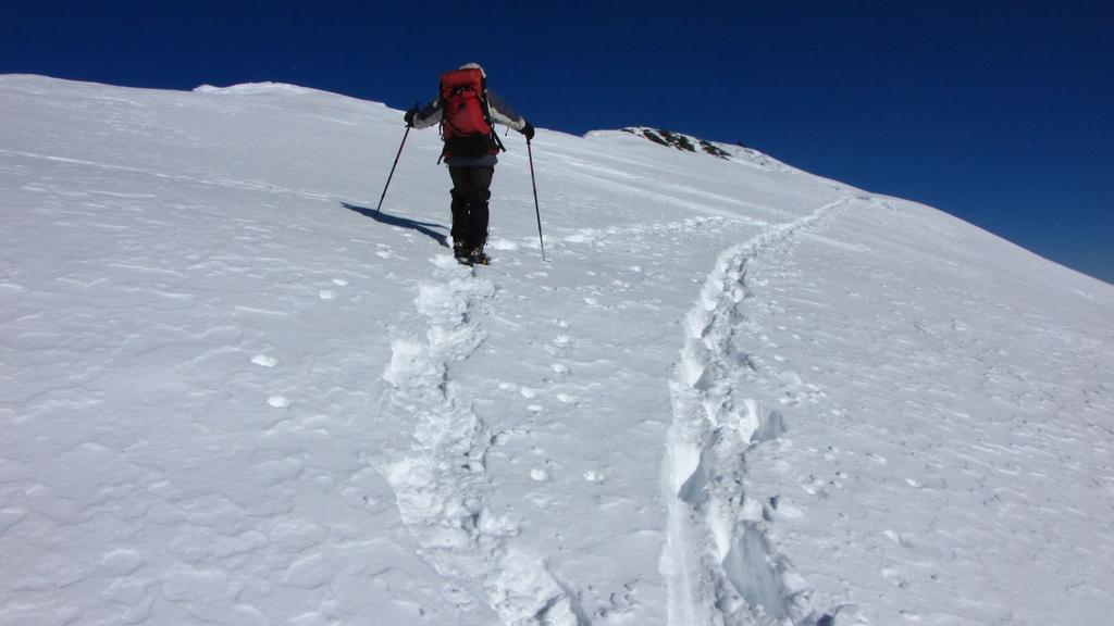 Enrico sulla cresta finale..verso la cima (31-1-2010)
