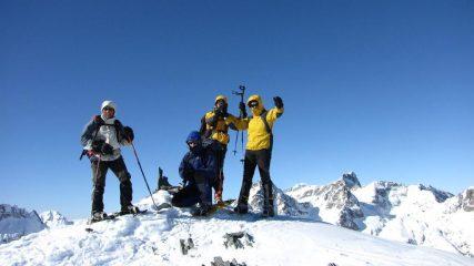 Enrico, Marco, Massimo e Stelvio in vetta (31-1-2010)