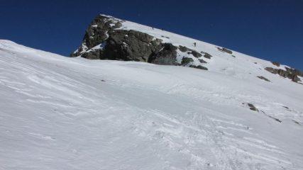 la vetta del Mont Saint Marie si avvicina (31-1-2010)