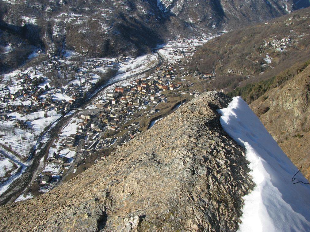Panorama su Locana, dalla curiosa