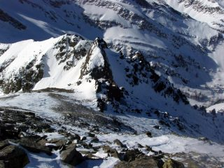 Dalla punta verso il Passo dar Loup