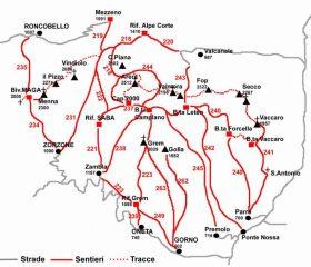 Mappa schematica della zona