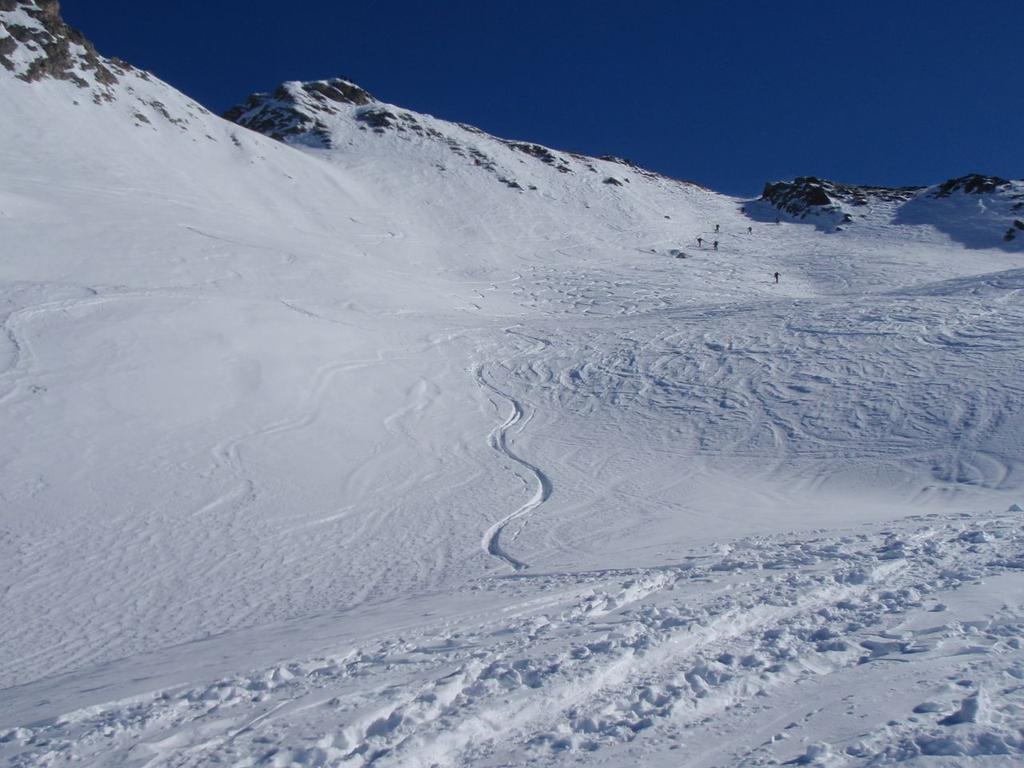 neve fantastica sotto la punta