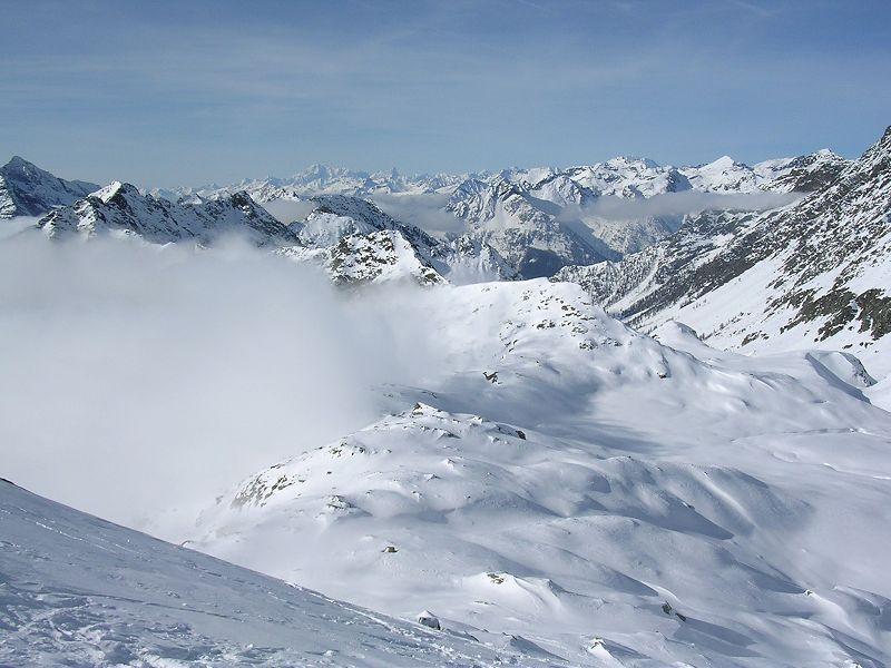 Panorama sul Monte Bianco
