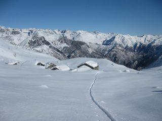 salita nei pressi dell'Alpe Vallonett 2011 mt
