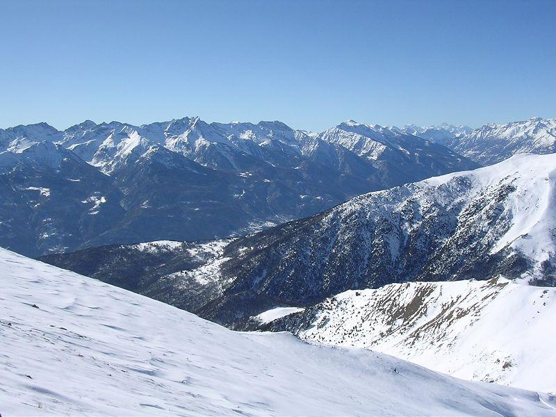 Dalla cima verso il gruppo Orsiera-Rocciavré