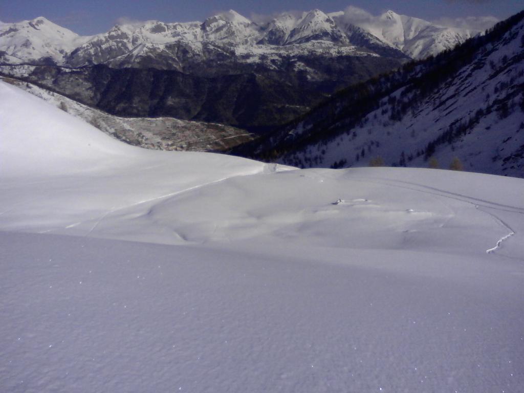 La Malga Panizzi e il fondovalle.