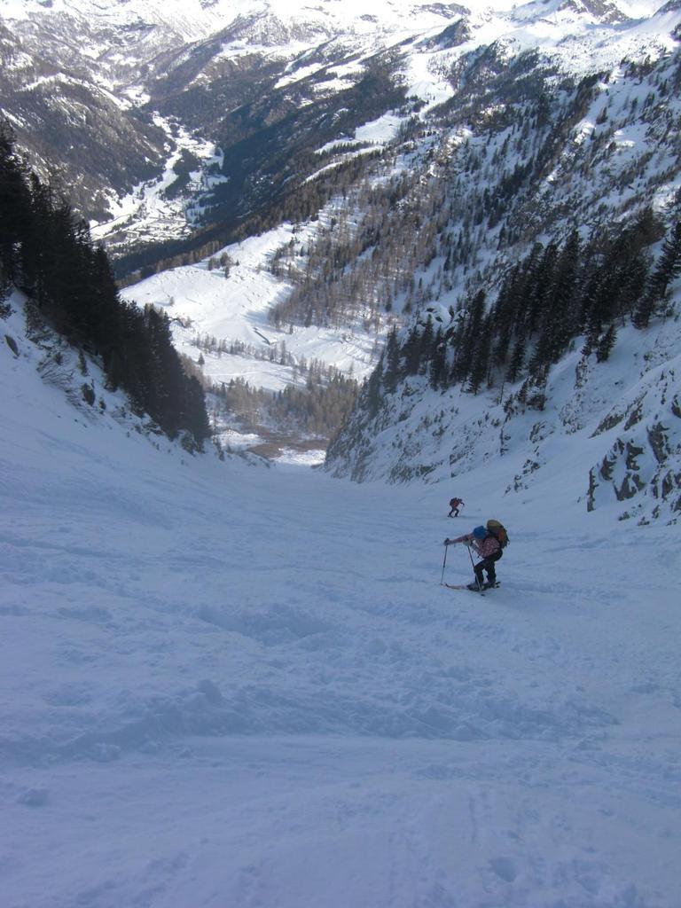 Parte iniziale, qui si tolgono gli sci