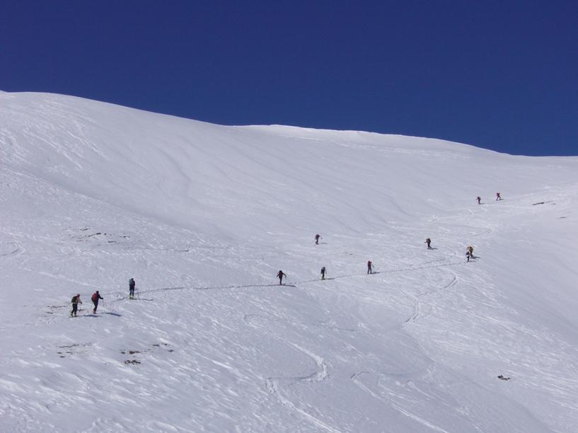 Salendo al mont de la Tsa