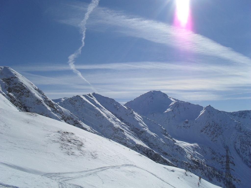 panorama sulla parte nord del monte rosso