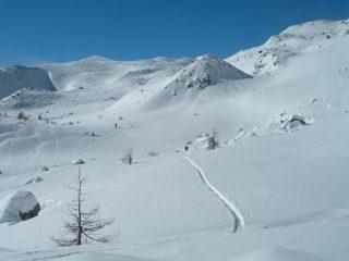 i bei Pendii del Mont Ros prima della 2 risalita