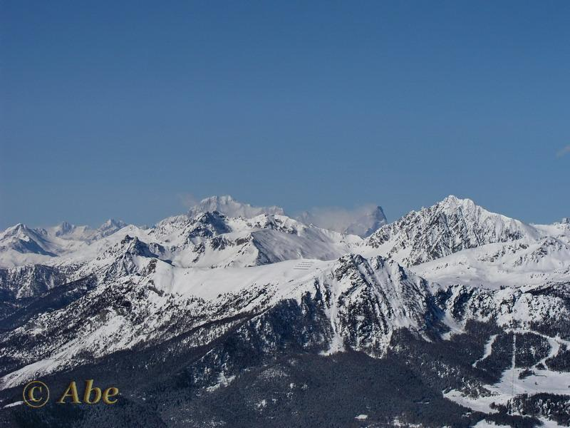 Monte Bianco e Grand Jorasses.