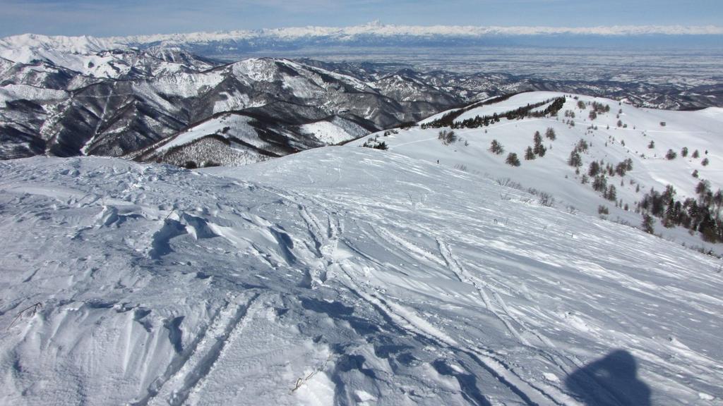 panorami dalla cima : la pianura e le Alpi Cozie (21-2-2010)