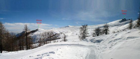 Uno sguardo sulla dorsale che collega il monte Tivoli alla Rocca Nera