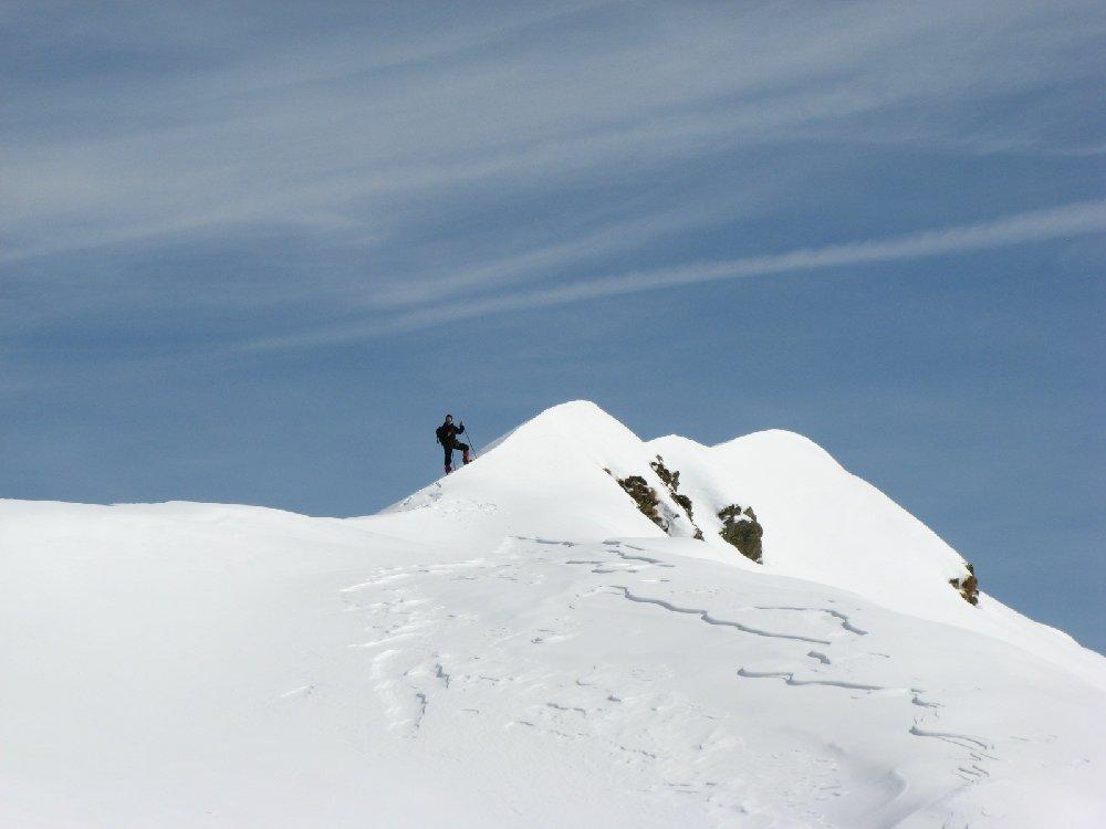 Sul rilievo che sovrasta Alpe Scaredi