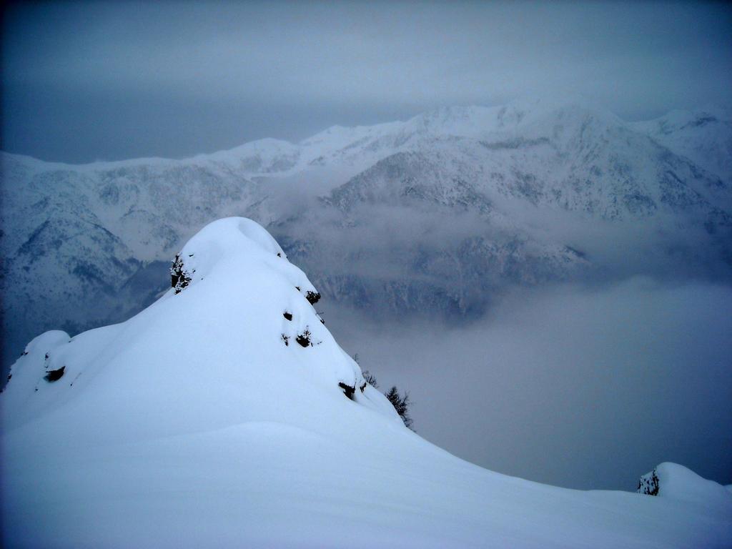 Panorama dalla cresta.