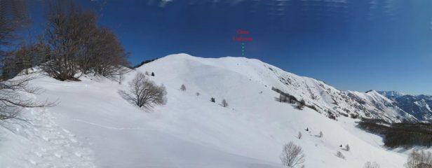 La Cresta che porta in cima dal colle Arpione