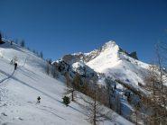 Arrivo in cresta con bella vista sul Pelvo d'Elva
