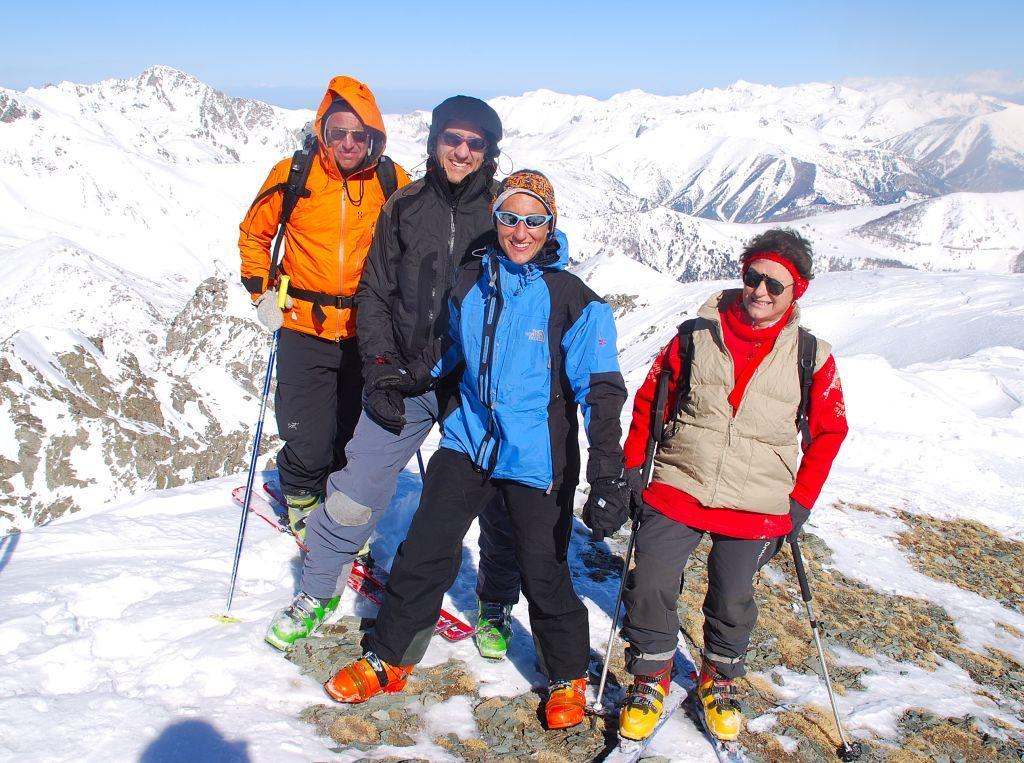 i compagni di gita sulla cima