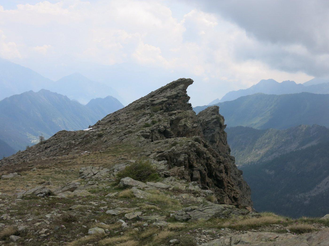 il Bec Raty (orientale) dalla cresta Ovest