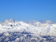 Disgrazia, Scerscen, Bernina, Cresta Guzza, canale Folatti, Argient, Palù visti dalla punta Cermenati
