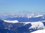 Il monte Rosa visto dalla cima