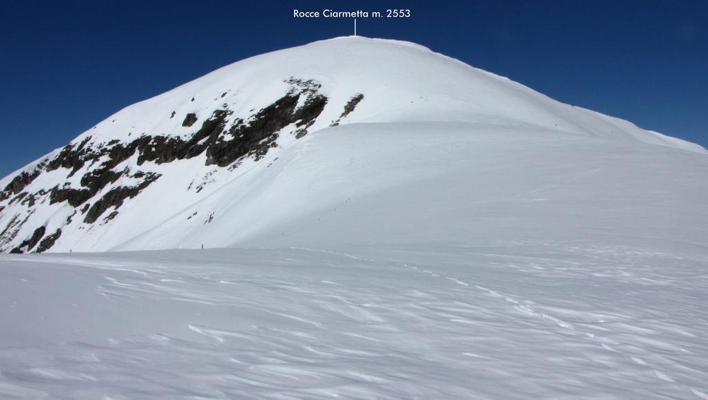le Rocce Ciarmetta viste dal Colle del Vallonetto (14-3-2010)