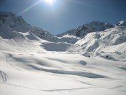 L'altro itinerario che porta alla punta w  delle Cime di Caronella 2796 m. sopra il rif. AEM.