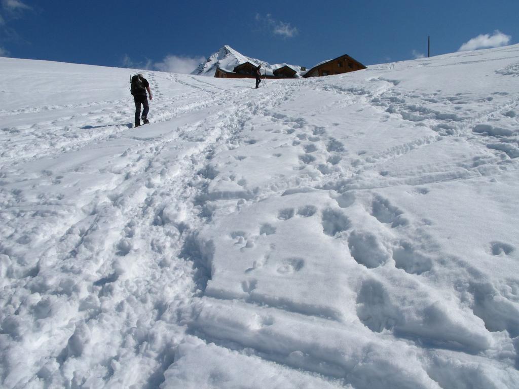 l'ultimo pendio prima di raggiungere il Rifugio Bonatti (2-5-2009)