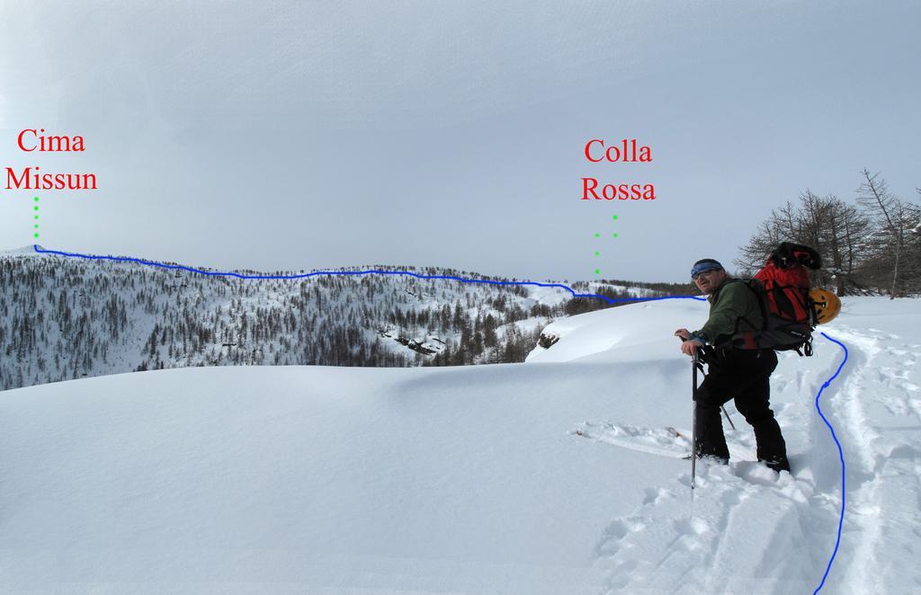 Itinerario Cima Missun, dalla dorsale verso Colla Rossa