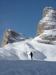 la meta il cornetto coperto di neve in centro