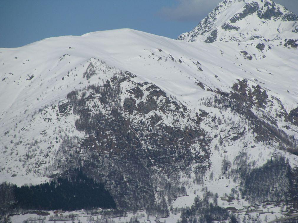 Zoom su Punta Cressa dal Monte Gregorio