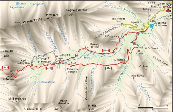 Mappa del percors