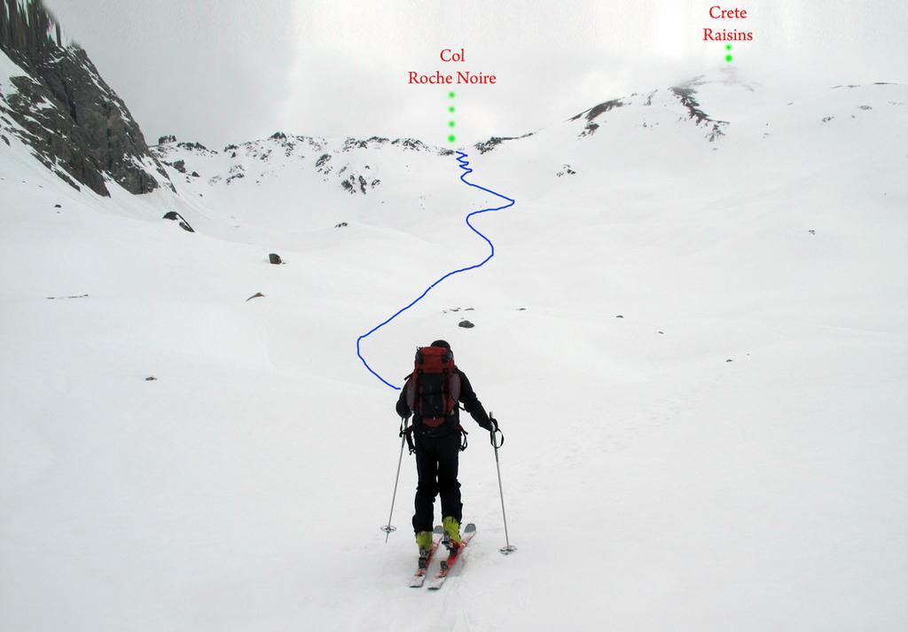 L'itinerari per il col di Roche Noire
