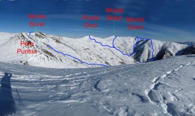 Itinerario Monte Bram e Grum dal monte Gorfi nel 2009
