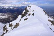 la cresta che porta alla Punta Ostanetta (27-3-2010)
