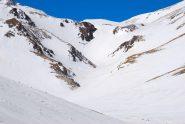 i pendii tra i 3300 m e i 3000 m, firn spettacolare
