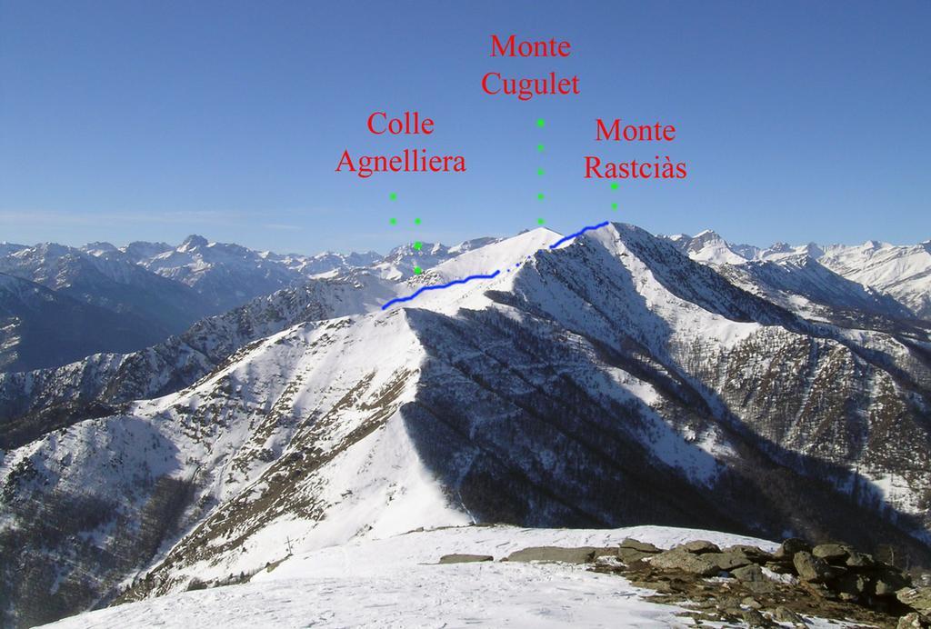 Itinerario visto dal Monte Birrone nel 2008