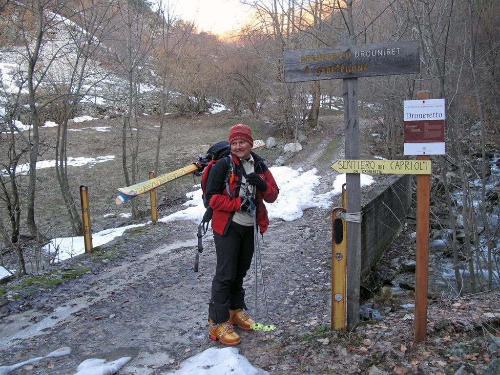 Partenza dalla strada del vallone di Droneretto