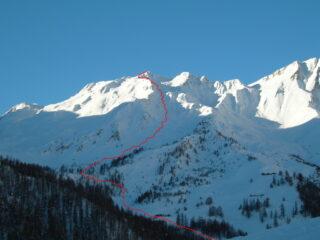 Percorso di salita   I   Le parcours de la montée   I   The route going up    I   Aufstiegsroute   I   Recorrido de subida