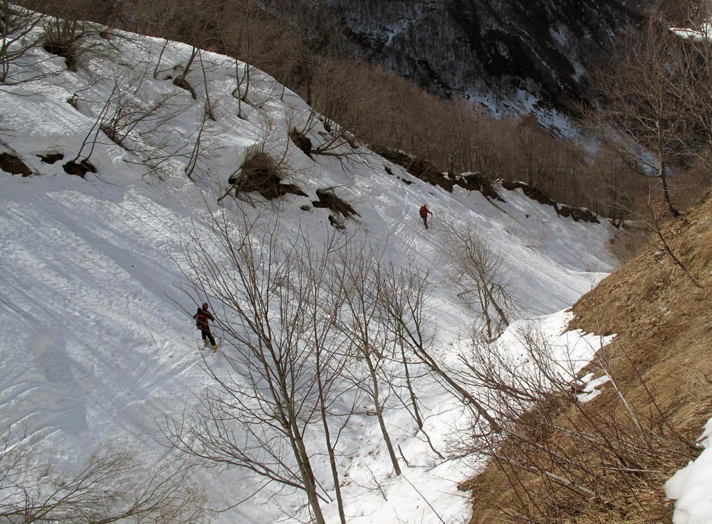 Discesa sul fondo del rio Colletta