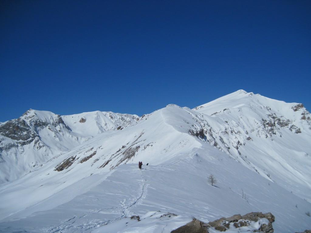 Cresta finale vista verso il Tibert