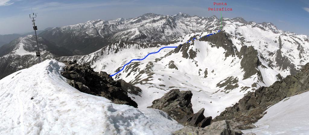 Itinerario alto visto dalla Rocca dell'Abisso nel 2009