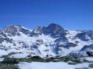 Sulla cima guardando il gruppo del Bernina
