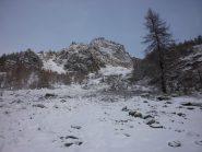 la parte bassa:si nota la poca neve..